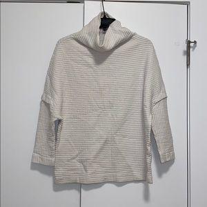 Zara Textured Turtleneck White Sweater